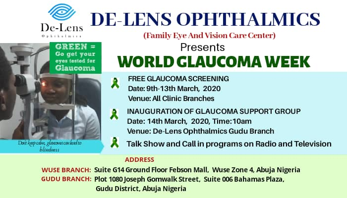 De-Lens Ophthalmics Marks World Glaucoma Week