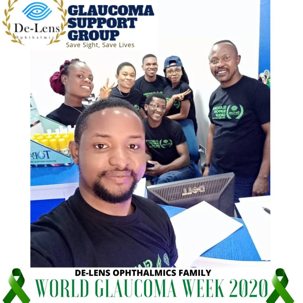 THE DE-LENS GLAUCOMA SUPPORT GROUP